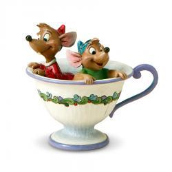Disney's Cinderella Jaq and Gus in Tea Cup Figurine