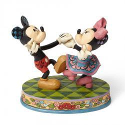 Disney's Mickey and Minnie Swinging Sweethearts Figurine by Jim Shore