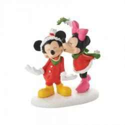 Disney's Mickey and Minnie Christmas Kiss Figurine by Department 56