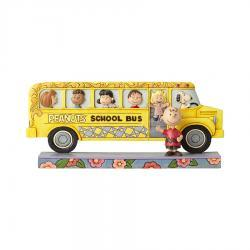 Peanuts School Bus Figurine