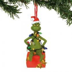 Grinch in Lights Lit Ornament