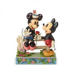 Disney's Mickey and Minnie by Fence Figurine
