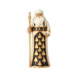 Black and Gold Santa with Staff Figurine