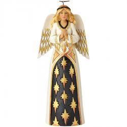 Black and Gold Praying Angel Figurine