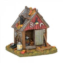 Backwoods Halloween Tool Shed