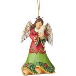 Angel Holding Kitten Ornament by Jim Shore