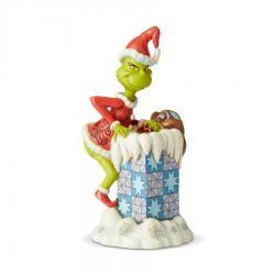 Grinch Climbing in Chimney Figurine