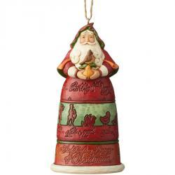 12 Days Of Christmas Santa Holiday Ornament by Jim Shore
