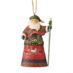 Lapland Santa with Staff Ornament by Jim Shore