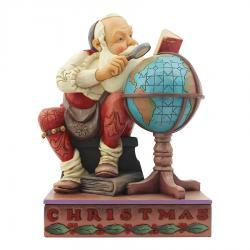 Santa With Globe Figurine