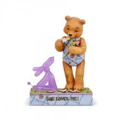 Pinky & Button Button In Love Counting Petals Figurine