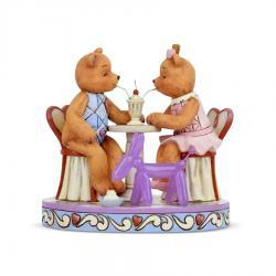 Button and Pinky Sharing Sundae Figurine