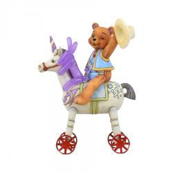 Button and Squeaky on Unicorn Figurine