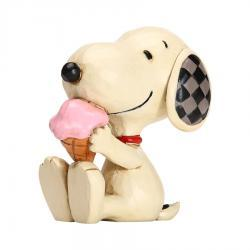 Peanuts Mini Snoopy with Ice Cream Figurine