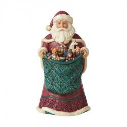 Victorian Snowman with Toy Bag Figurine