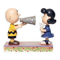 Peanuts Charlie Brown and Lucy Director Figurine