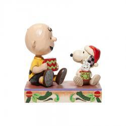 Peanuts Charlie Brown with Snoopy Cocoa Figurine
