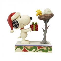 Peanuts Snoopy Giving Woodstock a Gift Figurine