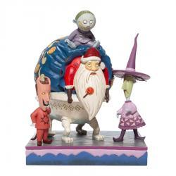 The Nightmare Before Christmas Lock, Shock and Barrel with Santa Figurine
