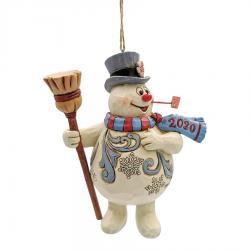 Frosty Dated Ornament 2020