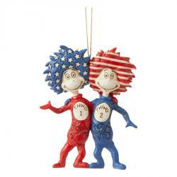 Dr. Seuss Thing 1 and Thing 2 Ornament