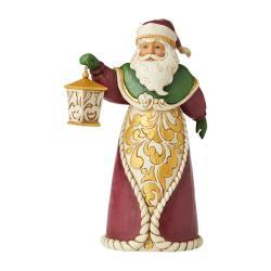 Signed Jim Shore Santa With Lantern Figurine